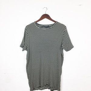 Brandy Melville Luana Ribbed Striped T-shirt Dress